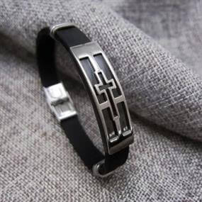 Men's Bracelet Steel Cross