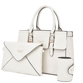 Elegant 5 Pcs Bag Set - Ivory